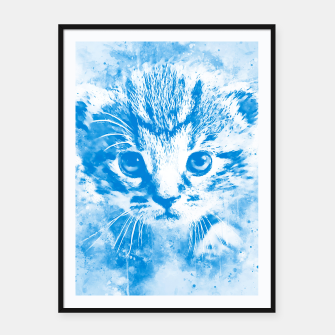 Thumbnail image of baby cat wswb Framed poster, Live Heroes