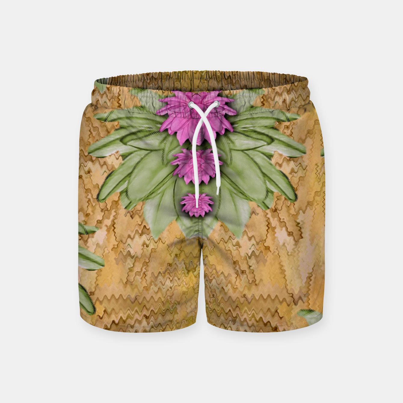 Image of lotus bloom in the sacred soft warm sea of love Swim Shorts - Live Heroes