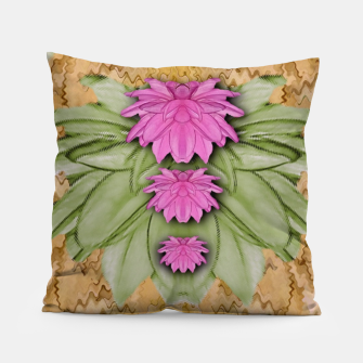 Miniatur lotus bloom in the sacred soft warm sea of love Pillow, Live Heroes