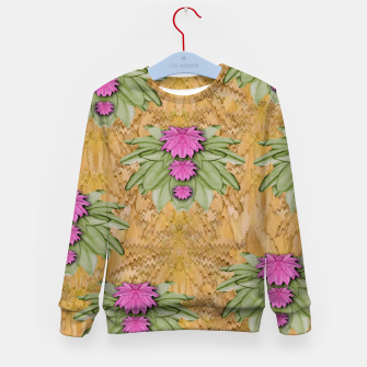 Miniatur lotus bloom in the sacred soft warm sea of love Kid's sweater, Live Heroes