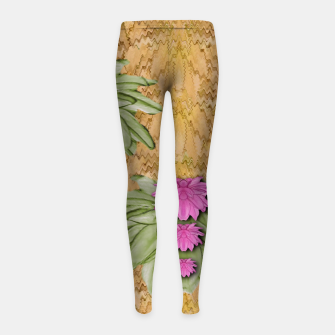 Thumbnail image of lotus bloom in the sacred soft warm sea of love Girl's leggings, Live Heroes