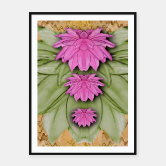 Miniatur lotus bloom in the sacred soft warm sea of love Framed poster, Live Heroes