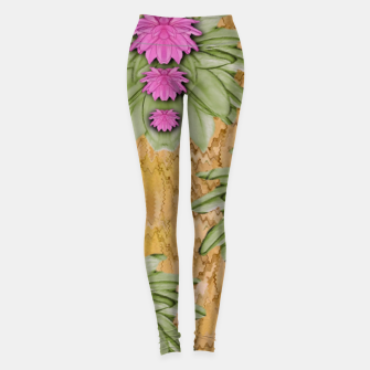 Thumbnail image of lotus bloom in the sacred soft warm sea of love Leggings, Live Heroes