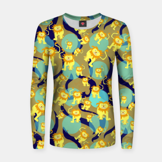 Thumbnail image of Lions Pattern Women sweater, Live Heroes