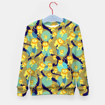 Thumbnail image of Lions Pattern Kid's sweater, Live Heroes