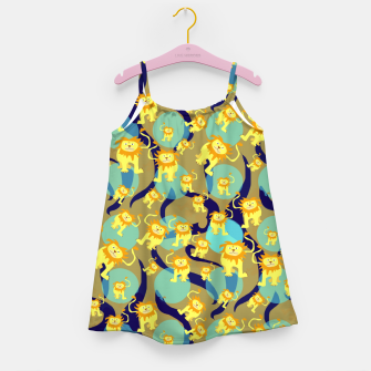 Thumbnail image of Lions Pattern Girl's dress, Live Heroes