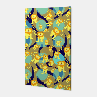 Thumbnail image of Lions Pattern Canvas, Live Heroes