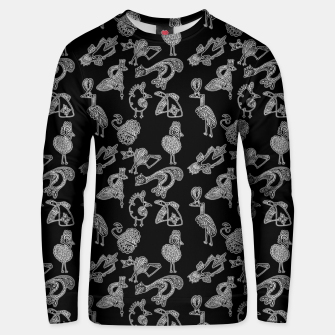 Sketched inked birds fairy fantasy black Unisex sweater thumbnail image