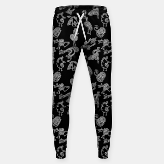 Thumbnail image of Sketched inked birds fairy fantasy black Sweatpants, Live Heroes