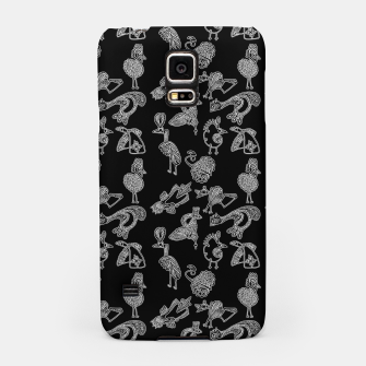 Thumbnail image of Sketched inked birds fairy fantasy black Samsung Case, Live Heroes