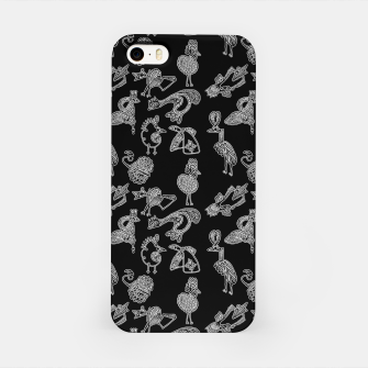 Thumbnail image of Sketched inked birds fairy fantasy black iPhone Case, Live Heroes
