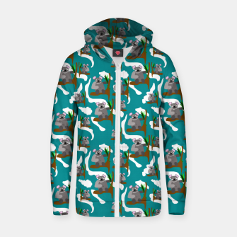 Koala Bears Pattern Zip up hoodie thumbnail image