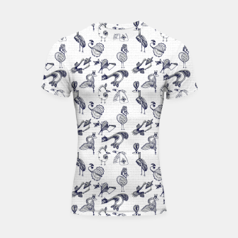 Thumbnail image of Sketched inked birds fairy fantasy white Shortsleeve rashguard, Live Heroes