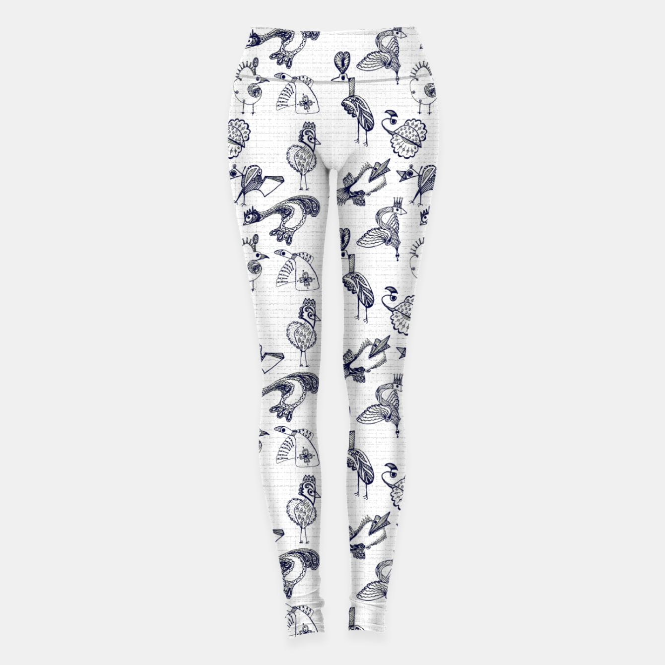 Image of Sketched inked birds fairy fantasy white Leggings - Live Heroes