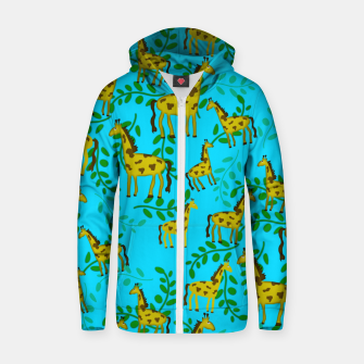 Thumbnail image of Cute Giraffes Pattern Zip up hoodie, Live Heroes