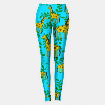 Thumbnail image of Cute Giraffes Pattern Leggings, Live Heroes