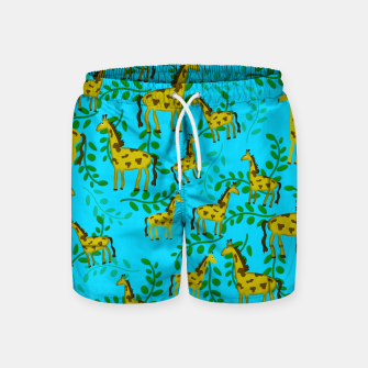 Thumbnail image of Cute Giraffes Pattern Swim Shorts, Live Heroes