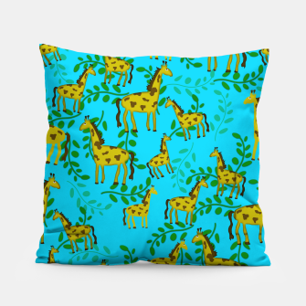 Thumbnail image of Cute Giraffes Pattern Pillow, Live Heroes