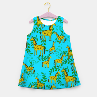 Thumbnail image of Cute Giraffes Pattern Girl's summer dress, Live Heroes
