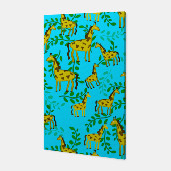 Thumbnail image of Cute Giraffes Pattern Canvas, Live Heroes