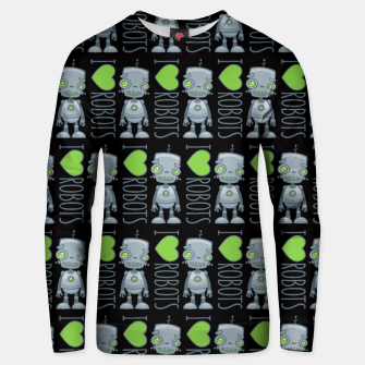 Miniatur I Love Robots Unisex sweater, Live Heroes