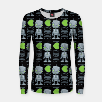Thumbnail image of I Love Robots Women sweater, Live Heroes