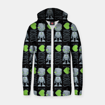 Thumbnail image of I Love Robots Zip up hoodie, Live Heroes