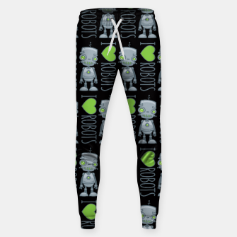 Thumbnail image of I Love Robots Sweatpants, Live Heroes