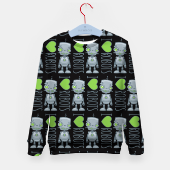 Thumbnail image of I Love Robots Kid's sweater, Live Heroes