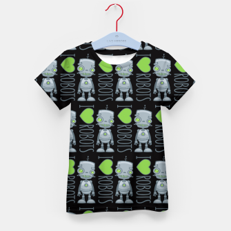 Thumbnail image of I Love Robots Kid's t-shirt, Live Heroes