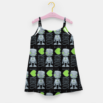 Thumbnail image of I Love Robots Girl's dress, Live Heroes