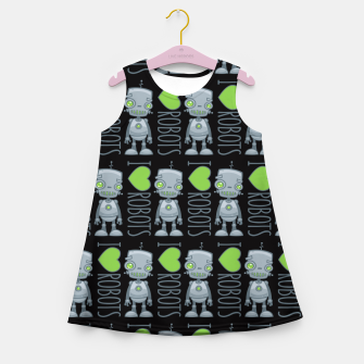 Thumbnail image of I Love Robots Girl's summer dress, Live Heroes