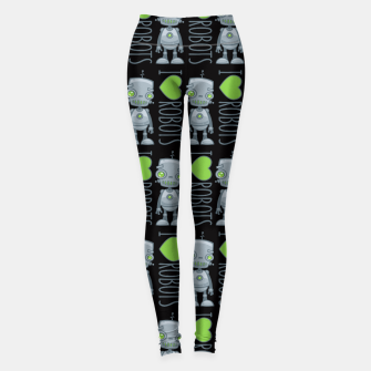 Thumbnail image of I Love Robots Leggings, Live Heroes