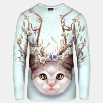 Thumbnail image of KITTEN HORNS UP Unisex sweater, Live Heroes
