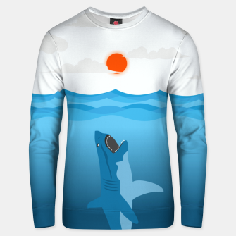 Shark Eats Sun Unisex sweater thumbnail image