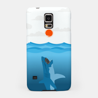 Thumbnail image of Shark Eats Sun Samsung Case, Live Heroes