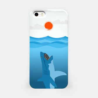 Shark Eats Sun iPhone Case thumbnail image