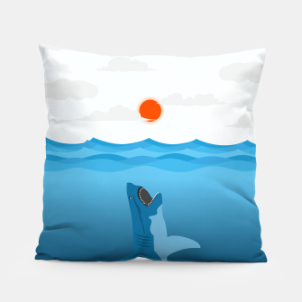 Shark Eats Sun Pillow thumbnail image