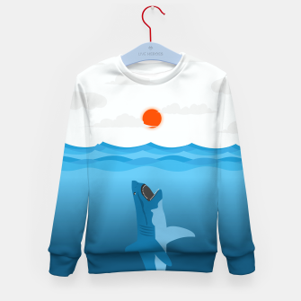 Shark Eats Sun Kid's sweater thumbnail image