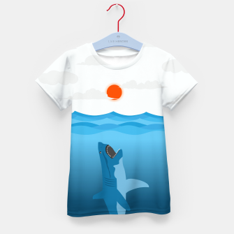 Shark Eats Sun Kid's t-shirt thumbnail image