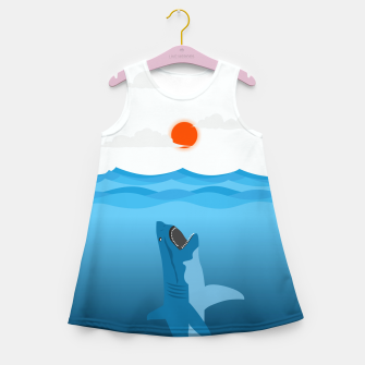 Shark Eats Sun Girl's summer dress thumbnail image