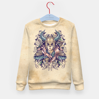 Thumbnail image of Warrior Goddess – pastel grunge Kid's sweater, Live Heroes