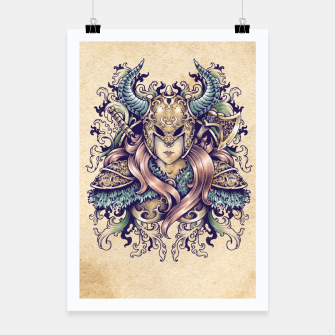 Thumbnail image of Warrior Goddess – pastel grunge Poster, Live Heroes