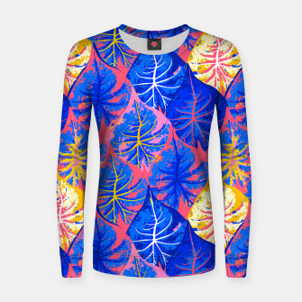 Thumbnail image of Exotic Leaves Women sweater, Live Heroes
