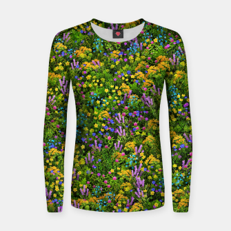 Thumbnail image of Wild meadow flowers Women sweater, Live Heroes