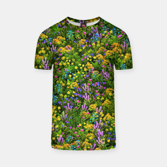Thumbnail image of Wild meadow flowers T-shirt, Live Heroes