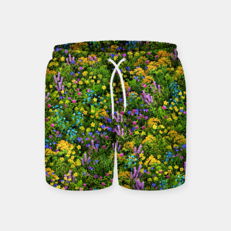 Thumbnail image of Wild meadow flowers Swim Shorts, Live Heroes