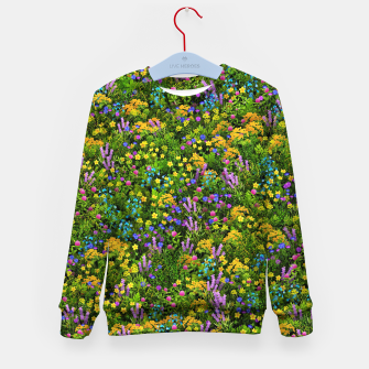 Miniaturka Wild meadow flowers Kid's sweater, Live Heroes