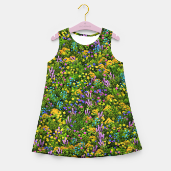 Miniaturka Wild meadow flowers Girl's summer dress, Live Heroes