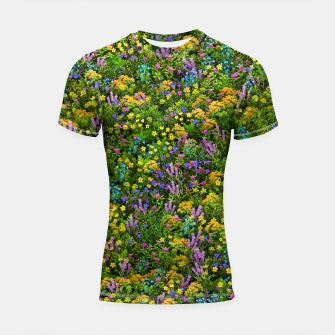 Thumbnail image of Wild meadow flowers Shortsleeve rashguard, Live Heroes